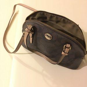 Coach Signature Canvas Leather Crossbody Bag